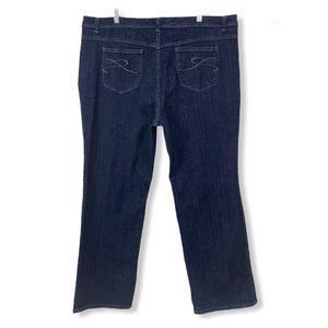 Style & Co. 24W Dark Blue Bootcut Jeans Stretch
